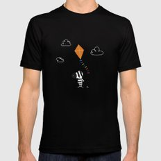 The Happy Childhood Black SMALL Mens Fitted Tee