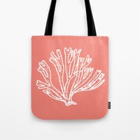 coral branch Tote Bag
