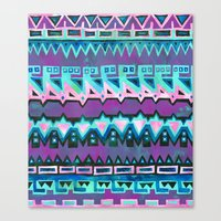 AZTEC STRIPE - pink Canvas Print