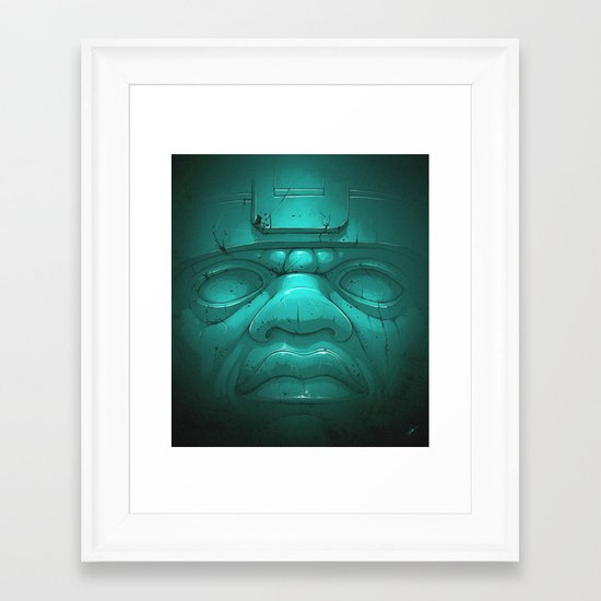Olmeca III. Framed Art Print