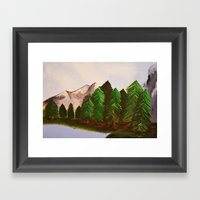 Mountains And Trees Framed Art Print