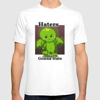 Haters Gonna Hate Mens Fitted Tee White SMALL