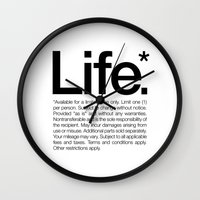 Life.* Available For A L… Wall Clock