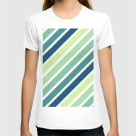 Pastel Turquoise Green T… Womens Fitted Tee White LARGE