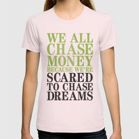 Dreamchaser Womens Fitted Tee Light Pink SMALL