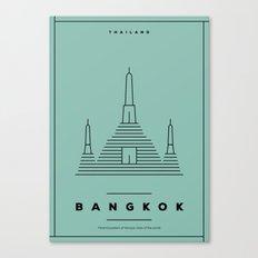 Minimal Bangkok City Poster Canvas Print
