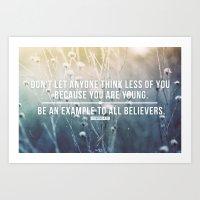 1 Timothy 4:12 Art Print