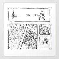 Disc Comic Art Print