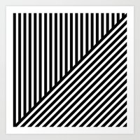 Black & White Stripes & … Art Print