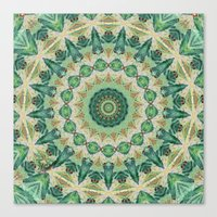 Luna Moth Kaleidoscope Canvas Print