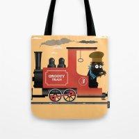 Groovy train Tote Bag
