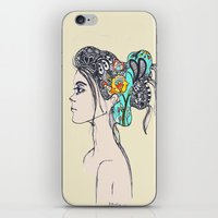 Doodle Hair iPhone & iPod Skin