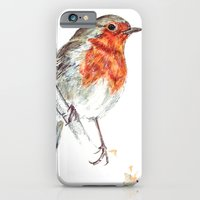 iPhone & iPod Case featuring European Robin by Nils Middelstorb