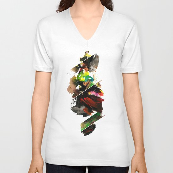 color study 1 V-neck T-shirt