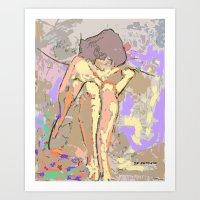 Desnudo En El Sillón Art Print