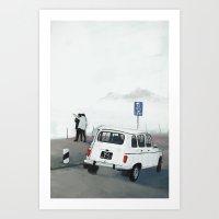 30 M On Left Art Print