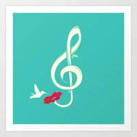 Sweet Song Art Print