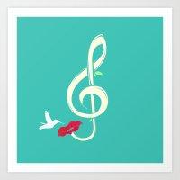 Sweet Song Art Print