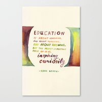 Inspiring Curiosity Canvas Print