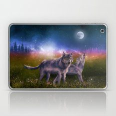 wolf and sky Laptop & iPad Skin