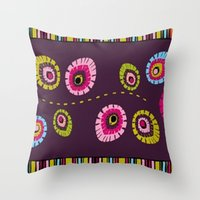 Folk Variation Throw Pillow