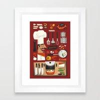 Italian Kitchen Framed Art Print