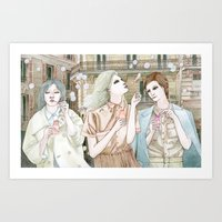 Soap Bubbles In The City Art Print