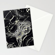 Golden Web Stationery Cards