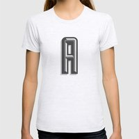 Letter A Womens Fitted Tee Ash Grey SMALL