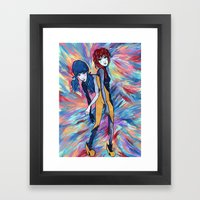 Unicorns and Lollipops Framed Art Print