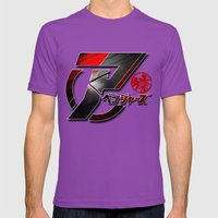 Japanese Avengers Mens Fitted Tee Ultraviolet SMALL