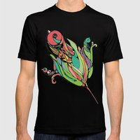 Rising Of The Birdy Gods Mens Fitted Tee Black SMALL