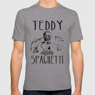 TEDDY SPAGHETTI Mens Fitted Tee Athletic Grey SMALL