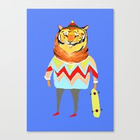 Tiger Dude Canvas Print