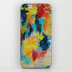 VANCOUVER RAIN - Stunning Rainbow Colorful Bold bright Rain Clouds Stormy Day Wow Abstract Painting iPhone & iPod Skin