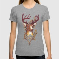 Stag Illustration 1/6 Womens Fitted Tee Tri-Grey SMALL
