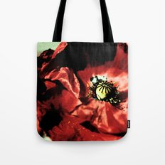 one red poppy Tote Bag
