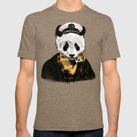 THE CAPTAIN Mens Fitted Tee Tri-Coffee SMALL