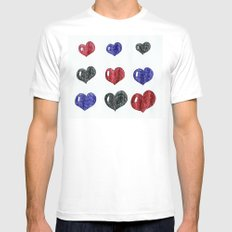 My hearts Mens Fitted Tee White SMALL