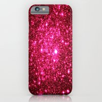 glitter iPhone & iPod Cases featuring Hot Pink Glitter Stars by 2sweet4words Designs