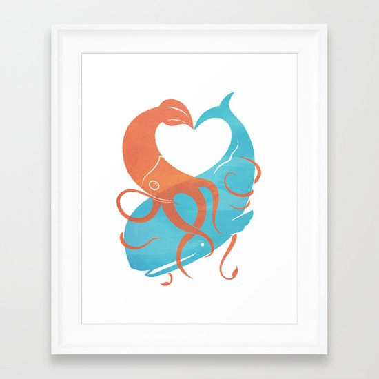 Hug It Out Framed Art Print