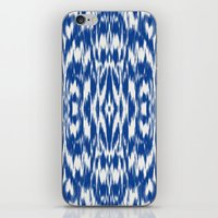 Ikat: Nautical Blue  iPhone & iPod Skin