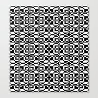 Black and White Tile 6/9/2013 Canvas Print