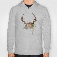 Floral Antlers V Hoody