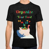 Organize Your Food Habits Mens Fitted Tee Tri-Black SMALL