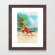 TRAVEL TIME Framed Art Print
