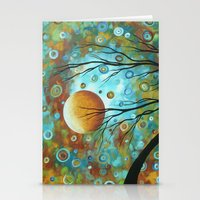 Colorful Abstract Art La… Stationery Cards