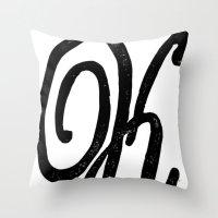 Monogrammed Letter K Throw Pillow
