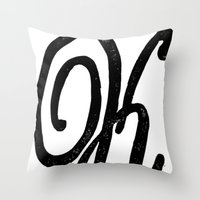 Monogrammed Letter K Throw Pillow