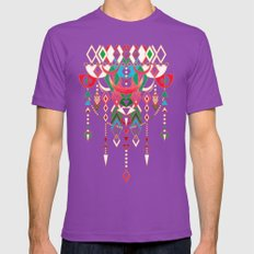 Modern Deco In Red And B… Mens Fitted Tee Ultraviolet SMALL